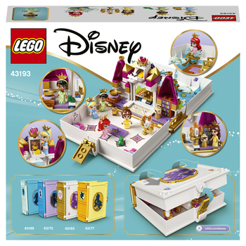 Конструктор LEGO Disney Princess Книга сказочных приключений Ариэль, Белль, Золушки и Тианы 3