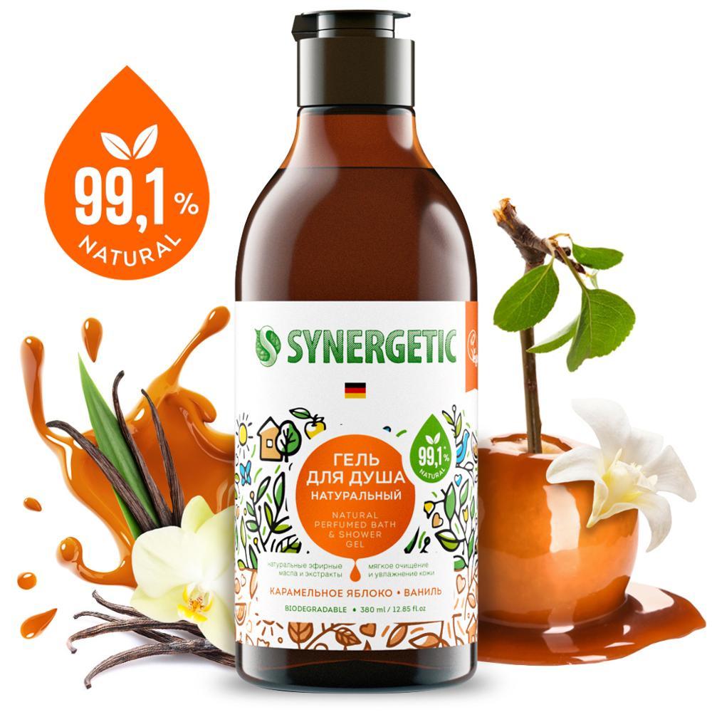 Гель для душа Synergetic «Карамельное яблоко и ваниль», 380мл