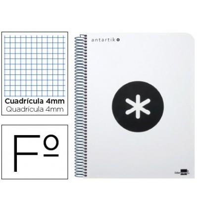 SPIRAL NOTEBOOK LEADERPAPER A4 ANTARTIK HARDCOVER 80H 100 GR TABLE 5MM WHITE COLOR