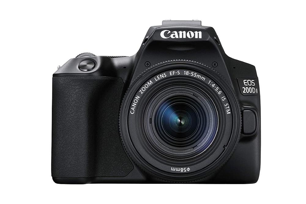 <font><b>Canon</b></font> EOS <font><b>200D</b></font> II DSLR Camera Body with Single Lens (EF-S 18-55mm f/4-5.6 IS STM) image