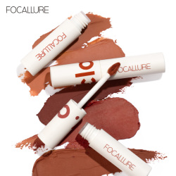 FOCALLURE Matte Lipstick Lipclay Lipcream Velvet Waterproof Longlasting Dual-use lip and cheek Professional Makeup