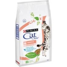 Сухой корм Cat Chow для взрослых кошек с чувствительным пищеварением с лососем и высоким содержанием домашней птицы, Пакет, 7 кг