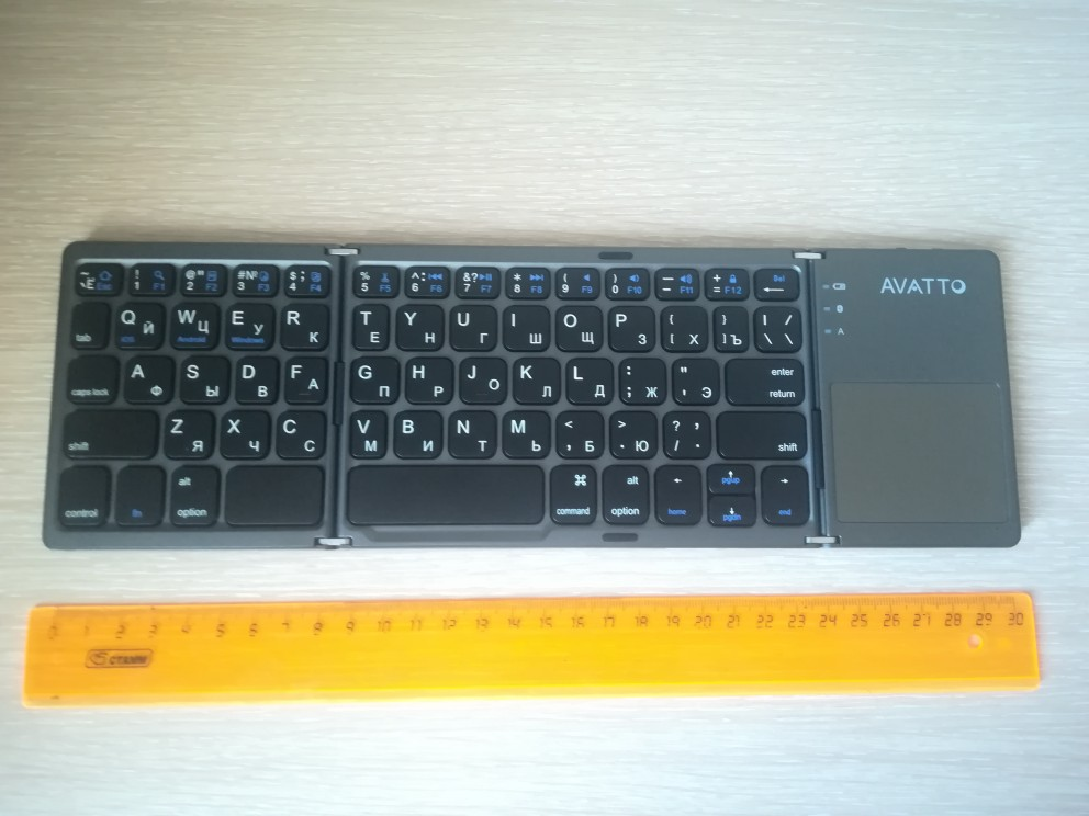 Foldable Bluetooth Keypad with Touchpad photo review