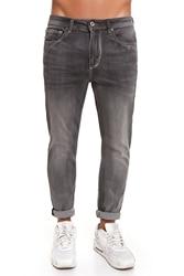 CR7 Jeans voor mannen Kleur Grijs Basic Casual Super Skinny Jeans Casual met Zakken CRD027B