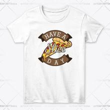Стандартная женская футболка с изображением кусочка пиццы на