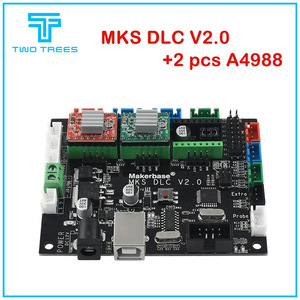 Makerbase MKS DLC V2.0 With A4988 GRBL OFFLINE Laser CNC Engraving machinecontrol board UNO R3 expansion plate