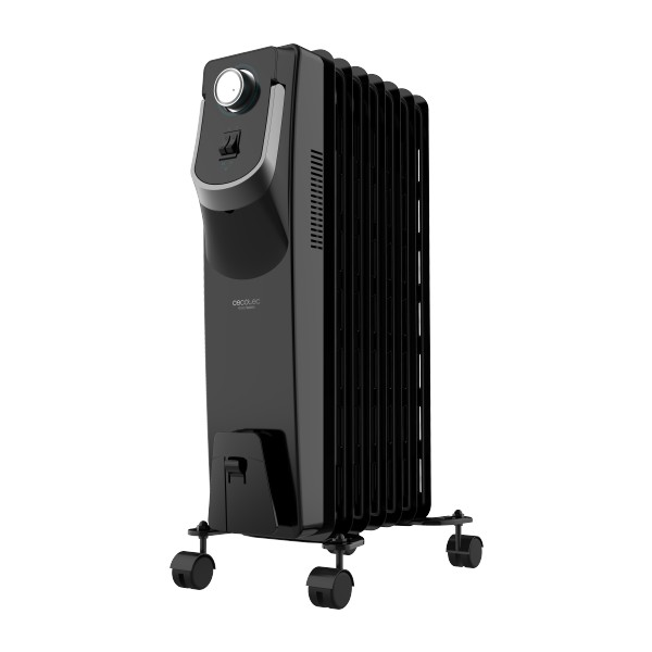 Oil-filled Radiator (7 Chamber) Cecotec Ready Warm 5770 Space 360º 1500W Black