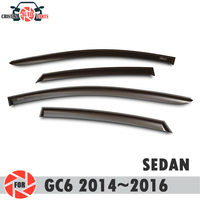 Window deflector for Geely Emgrand GC6 2014~2016 rain deflector dirt protection car styling decoration accessories