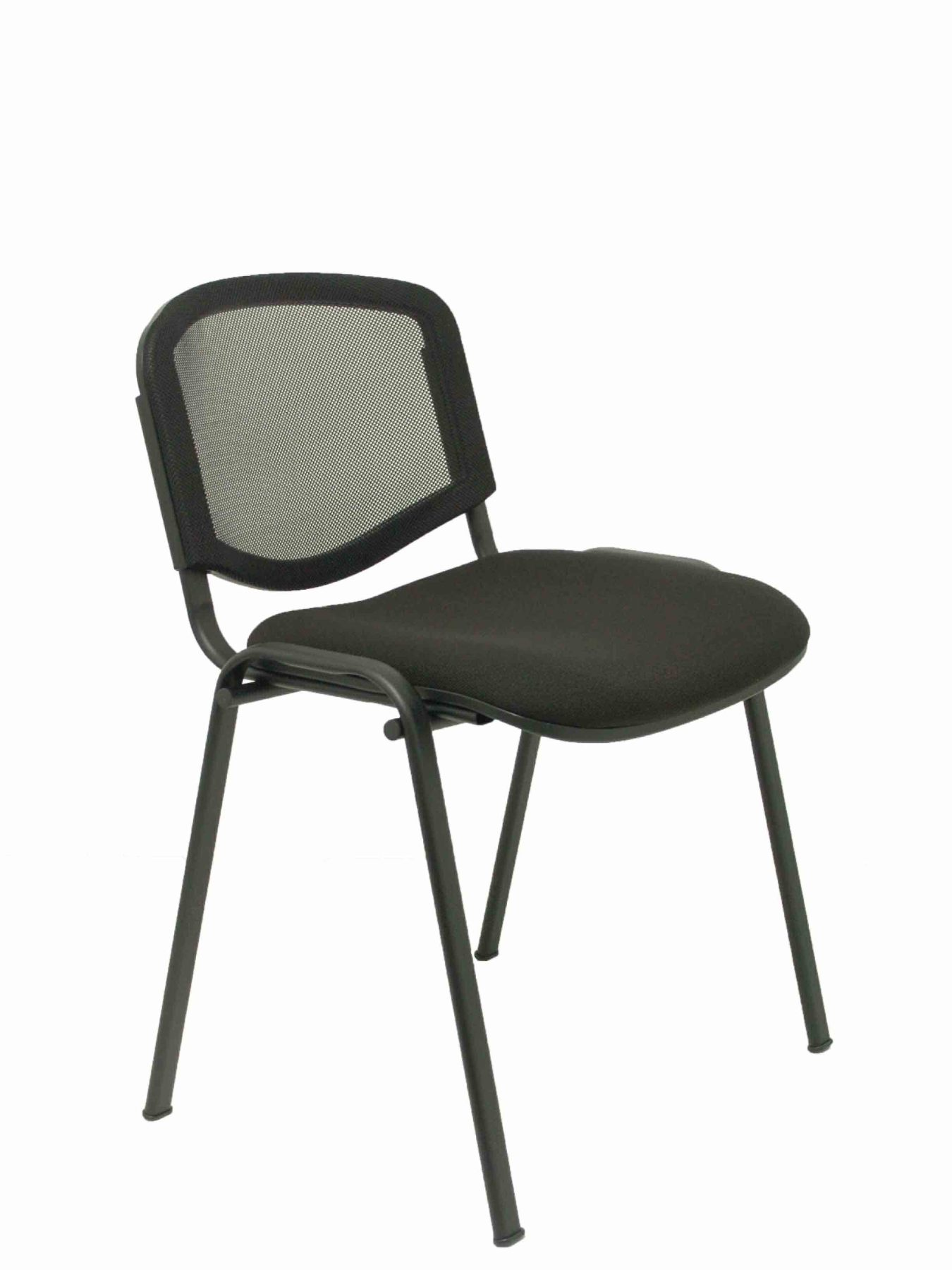Pack Of 4 Chairs Confident Ergonomic, Stackable, Multi-purpose And Structure In Black Color Seat Upholstered In Fabric AR