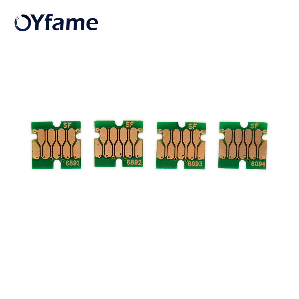 OYfame 4 Colors T6891 Cartridge Chip One time Chip For <font><b>Epson</b></font> SureColor <font><b>S30670</b></font> S50670 S30675 S50675 Printer Chip New Upgrade image