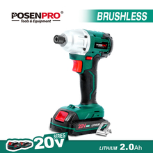 20V Cordless Screwdriver Brushless Electric Screwdriver Auto-stop Mode 2 Speed LED Light