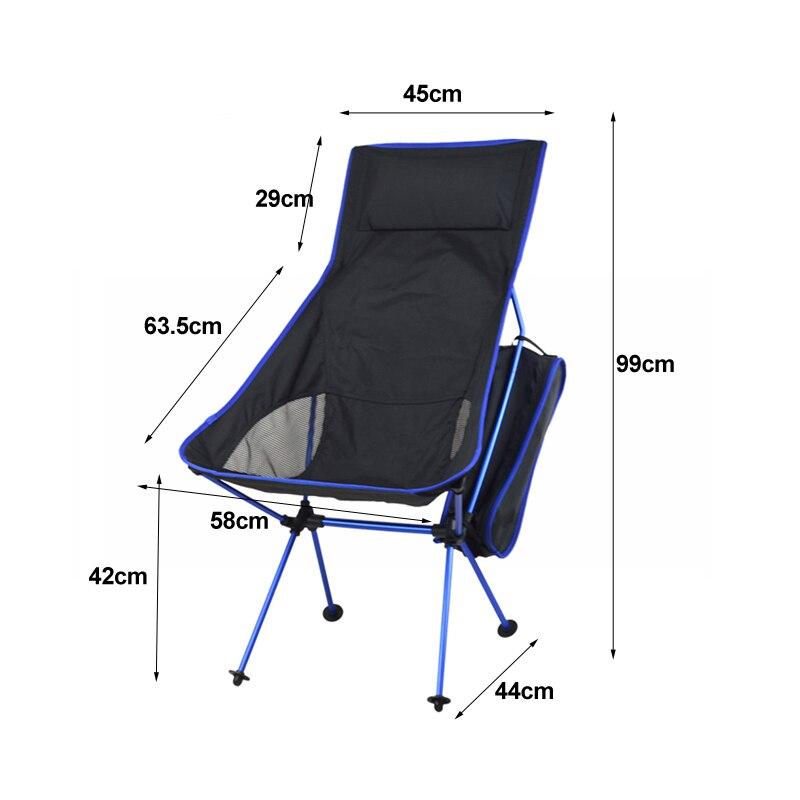 Портативное складное кресло, крепкое удобное сверхлегкое пляжное кресло для походов, рыбалки, кемпинга, отдыха на открытом воздухе, стулья, рыболовное кресло - Цвет: 2