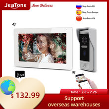 Видеодомофон jeatone для умного дома 7 дюймовый ip видеодомофон