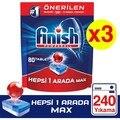 Finish Alle In Einem 240 Tablet Spülmaschine Waschmittel (80x3)