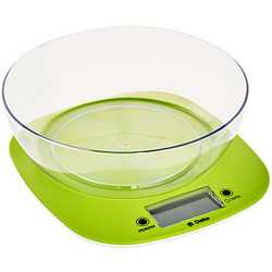 Electronic desktop scales Delta kce-32 with a bowl Green (kitchen)
