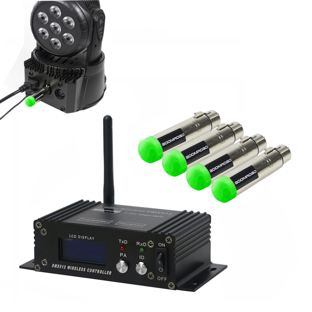 Wireless DMX512 LCD Display Controller XLR Receiver Transmitter DMX Control For Disco DJ Party Stage PAR Moving Head Laser Light