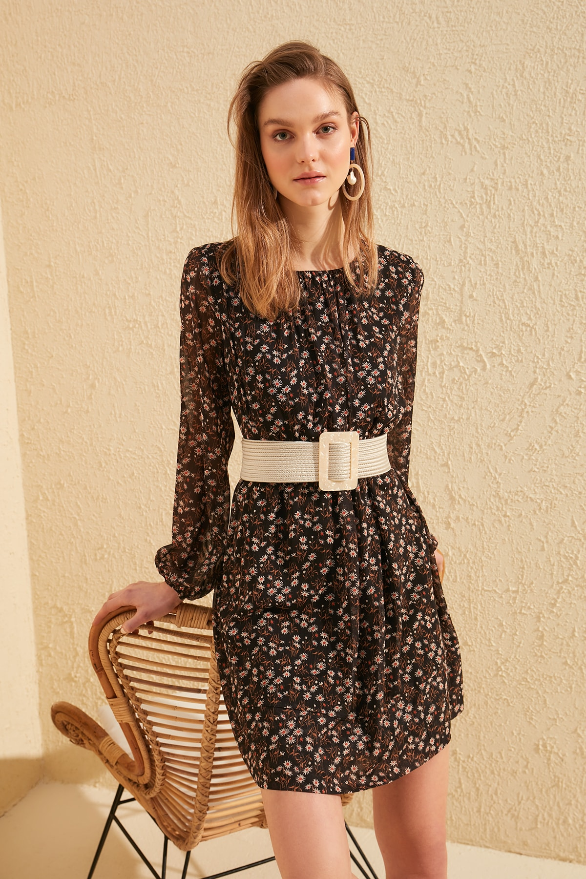 Trendyol Patterned Dress TWOSS20EL0245