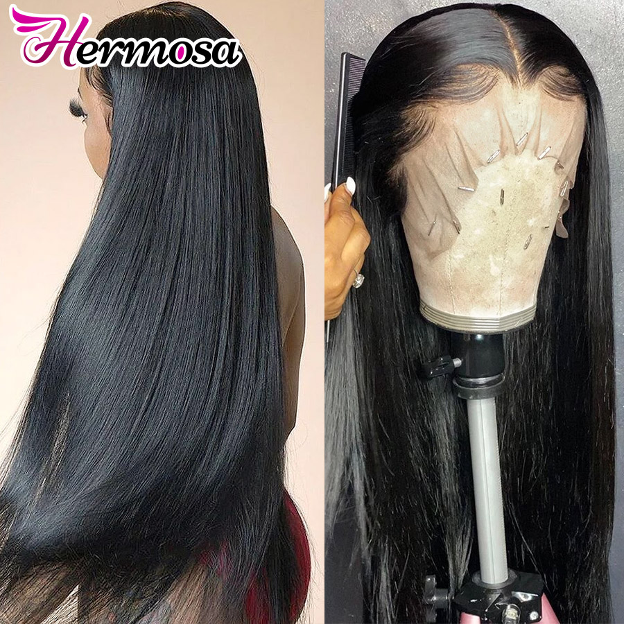 13x4/13x6 Lace Front Human Hair Wigs Pre Plucked Brazilian Straight Lace Front Wig 180% Lace Frontal Wig 4x4 Closure Wig Remy