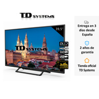 TVs 39,5 inch Full HD/ 1100 PCI Hz / VGA /USB recorder player/3x HDMI/ 2x USB/DVB-T2/C/S2/ TD Systems K40DLX10F