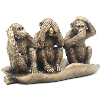 Figurine bronze three wise monkey 28x14 cm