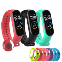 Replacement flexible silicone straps for Xiaomi Mi Band 3 / Mi Band 4 waterproof and resistant colors