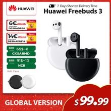 Huawei Freebuds 3 globalna wersja aktywna redukcja szumów słuchawki Bluetooth 5.1 boom Bass bezprzewodowe słuchawki dotknij sterowania