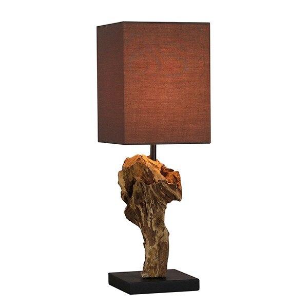 Desk Lamp Acacia (15 X 15 X 50 Cm)