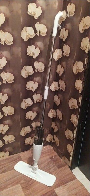 Mop with water sprayer deerma TB500 spray MOP 360 breasts rotating rod 350 ml|Electric Floor Mops|   - AliExpress