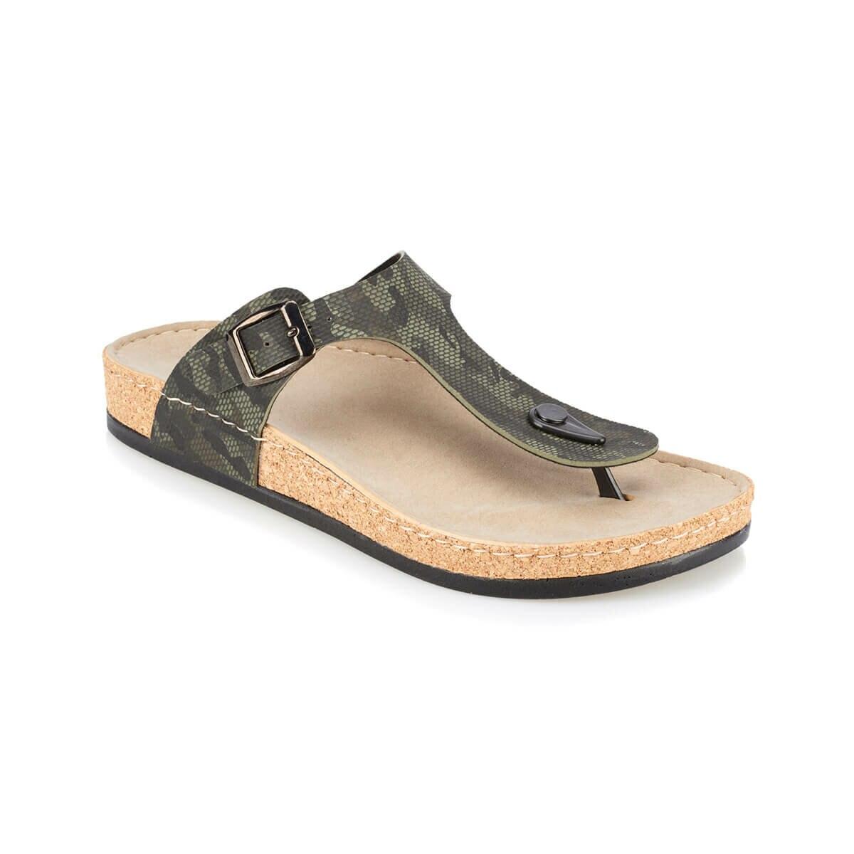FLO GUSTO Khaki Male Slippers KINETIX