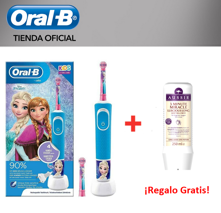 Oral-B Vitality KIDS Characters Frozen Plus Box order child Magic Timer-Electric Toothbrush Disney APP + sampoo Aussie gift image