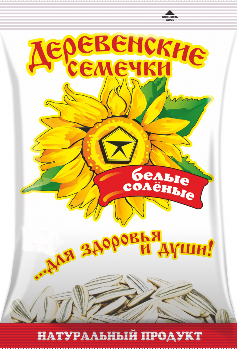 Семечки Деревенские белые соленые 35гр/50шт.
