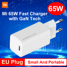 EU Version Xiaomi Mi 65W Fast Charger GaN Charger Type-C Quick Charge 3.0 Portable USB