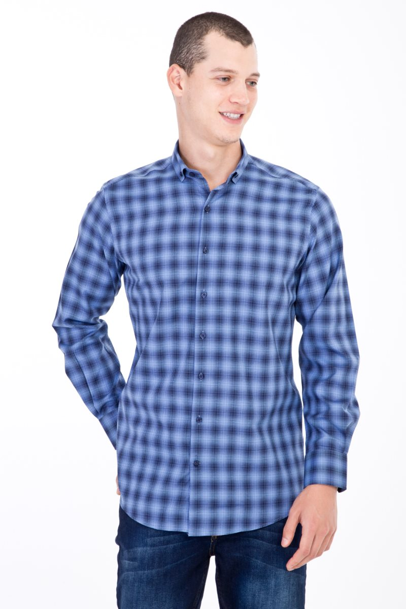 Kigili Men Shirts Long Sleeve Solid Oxford Dress Shirt Skin-Frinedly High Quality Male 'S Casual Regular Slim Fit Tops Button Down