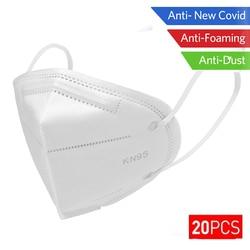 10/20/50PCS N95 마스크 안티 감염 KN95 마스크 미립자 호흡기 PM2.5 보호 안전 동일 ffp 2