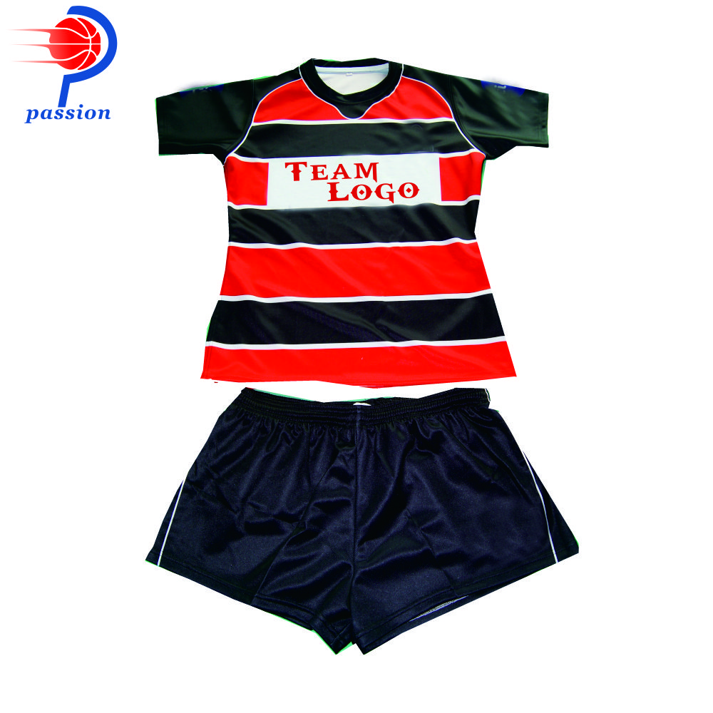 Custom Team Rugby Jerseys with Embroidery Chest Logo 60pcs