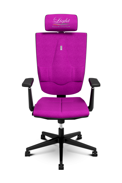 Office Chair KULIK SYSTEM SPACE Pink Computer Chair Relief And Comfort For The Back 5 Zones Control Spine