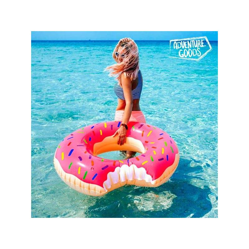 Inflatable Float Donut Pink Adventure Goods
