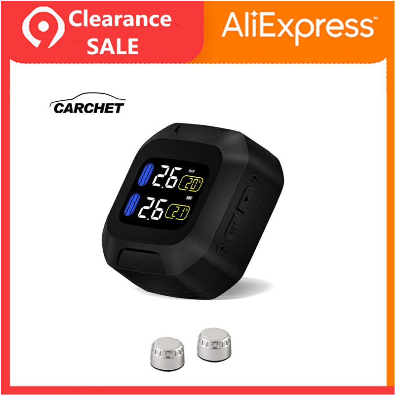 CARCHET Waterproof Lightning-proof General Wireless TPMS Motorcycle Tire Pressure Monitoring System For Two-wheeled
