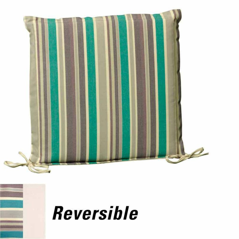 Chair Pad 50x50x5 Cm. Striped Removable