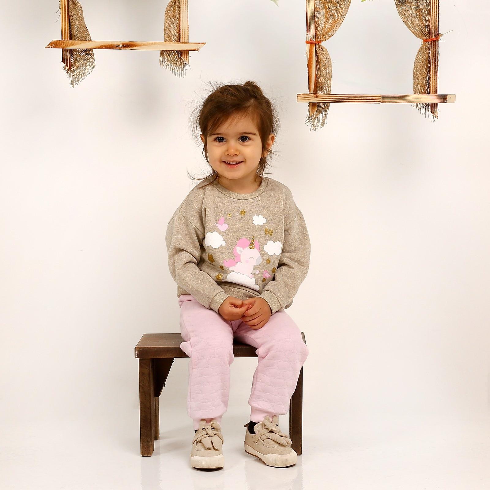 Ebebek Fisher Price Magical Unicorn Baby Sweatshirt Trousers 2 Pack Set