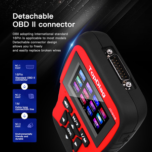 Image 5 - Автомобильный сканер двигателя TopDiag OBD2 JD906, считыватель кодов автомобиля, диагностический инструмент, очистка кода неисправности, проверка смога, батарея, тест TFT цветной экран