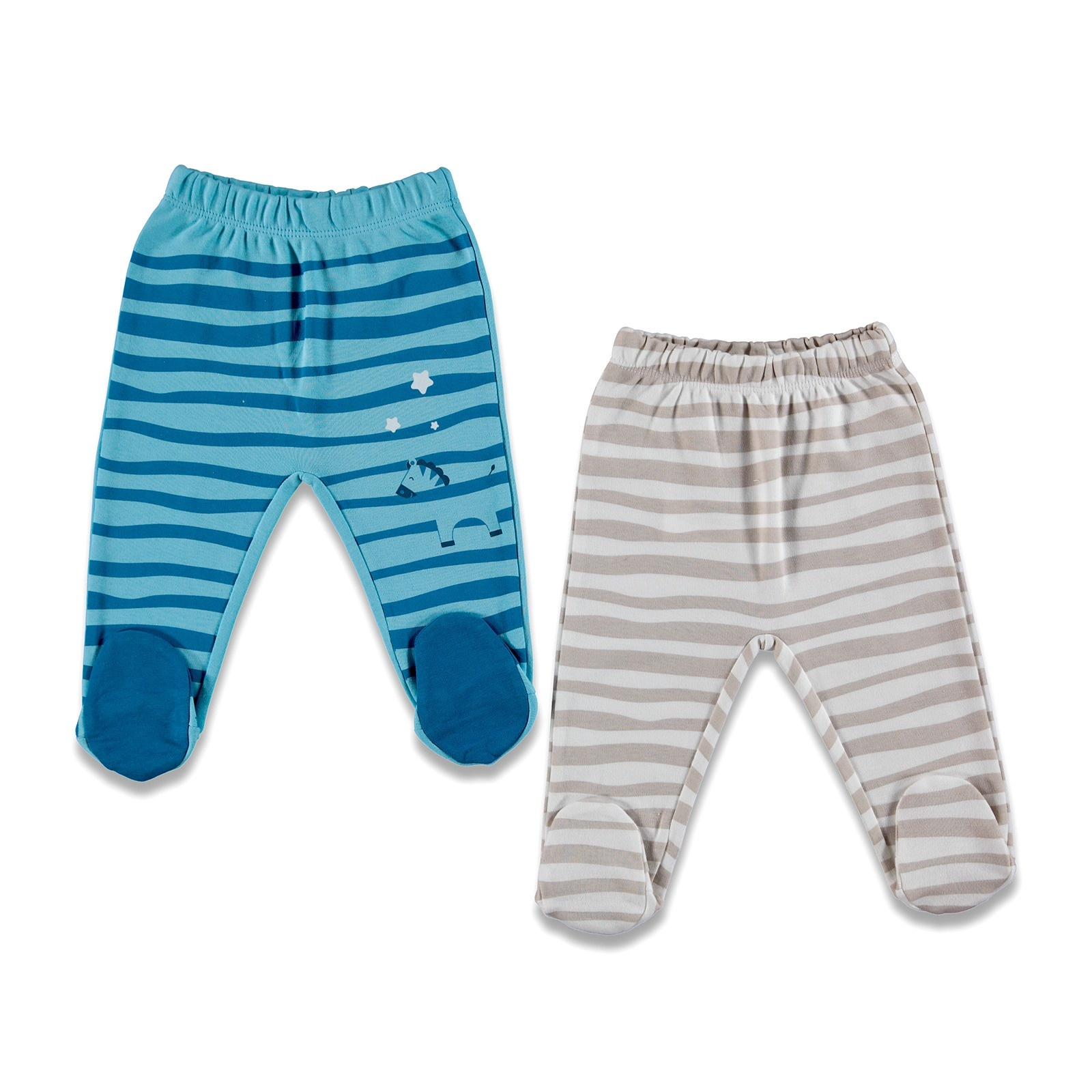 Ebebek Fisher Price Play With Me Baby Footed Trousers 2 Pack