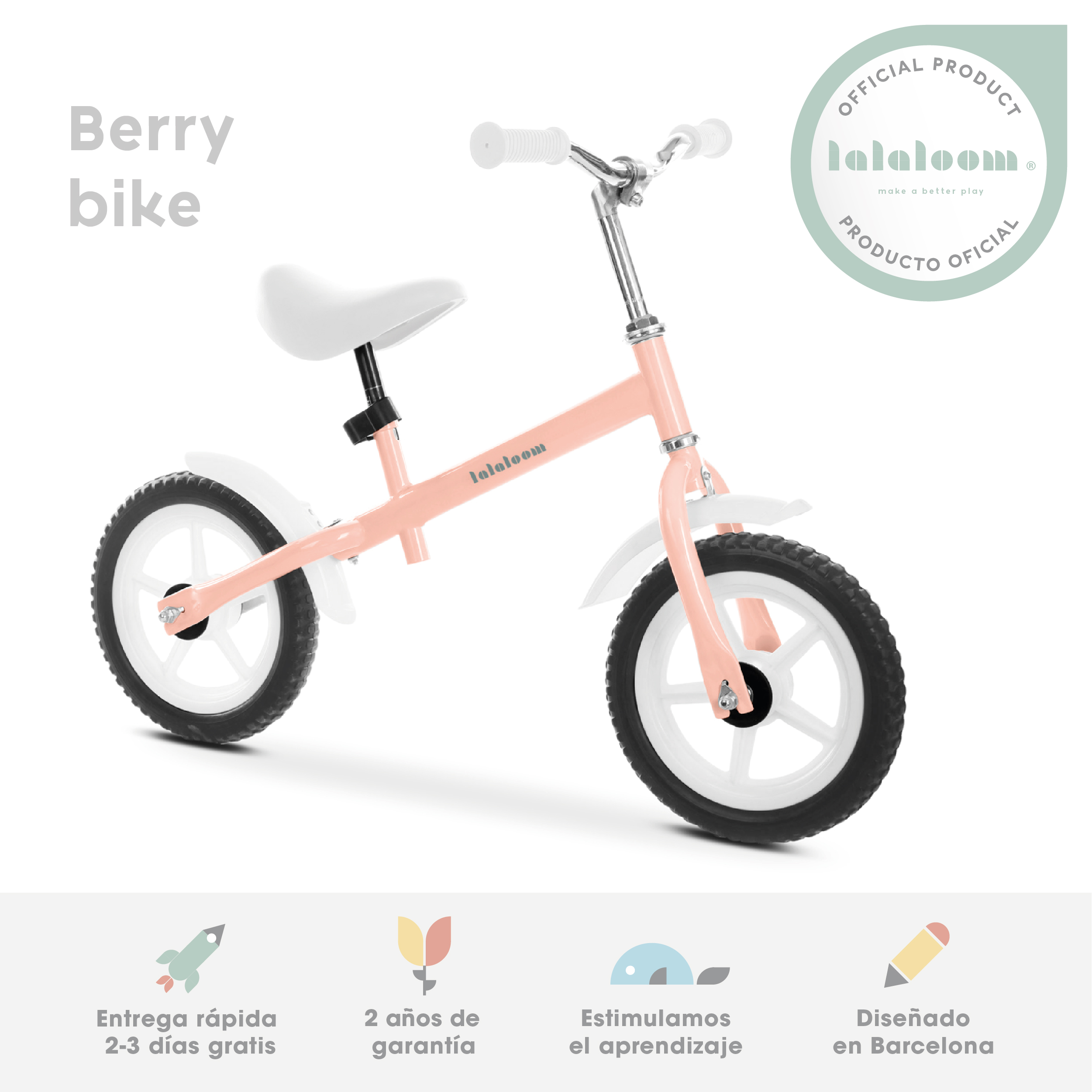 Bike Walker Bebe Pink Balance Bicycle Without Pedals Toy Balance