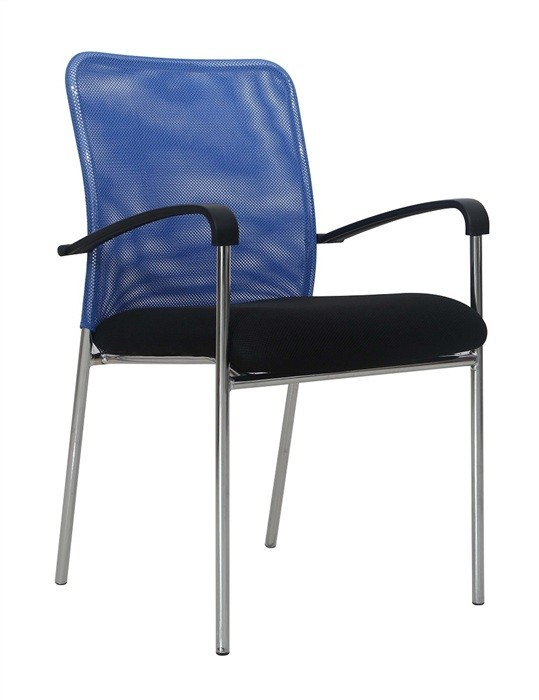 Armchair GLARUS, Blue Mesh Fabric Black *