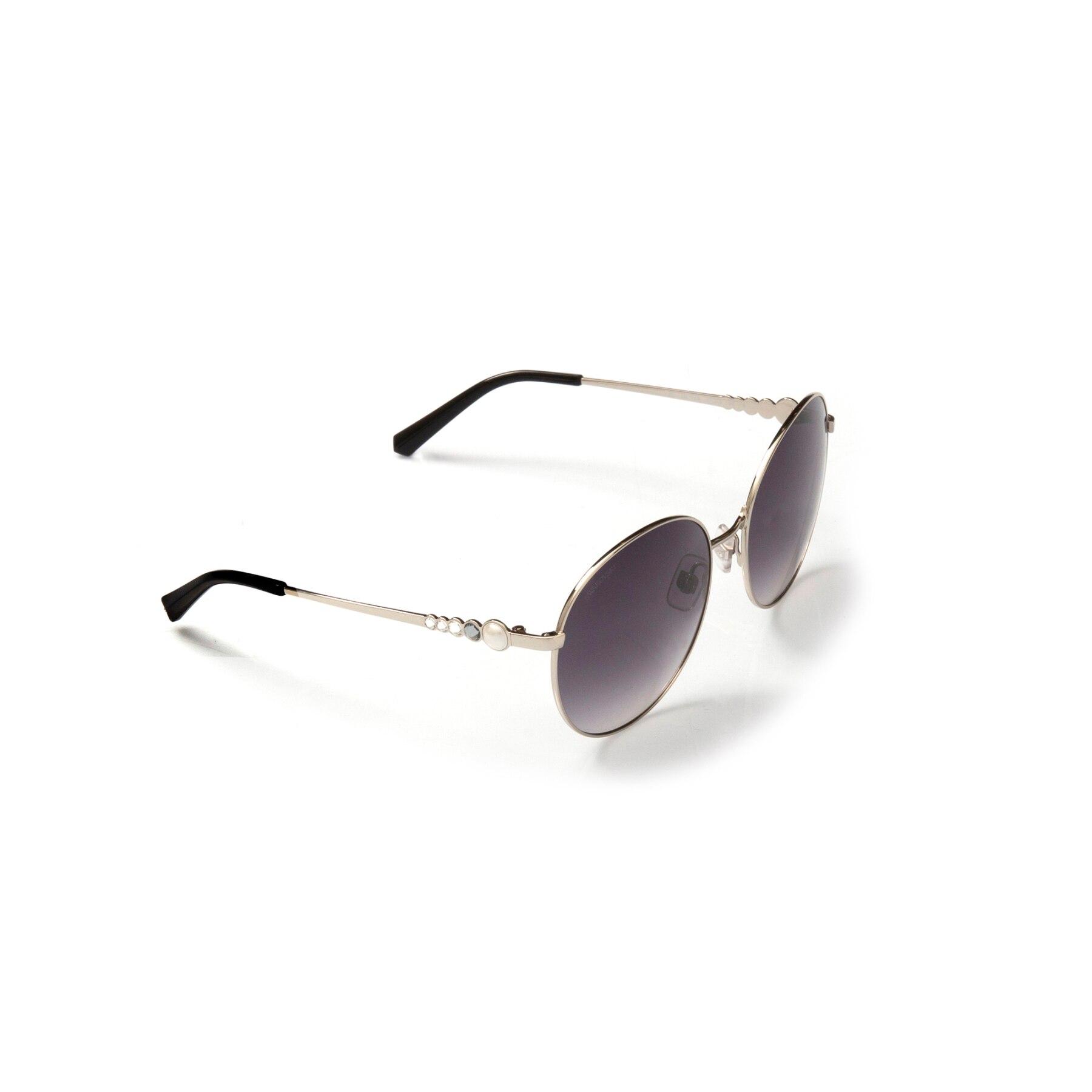 Women's sunglasses swr 0180 16b metal silver organic round round 61-19-135 swarovski