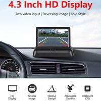 4,3 zoll HD Faltbare Auto Rückansicht Monitor Rückfahr Kamera TFT LCD Display Nachtsicht Backup Kamera für Parkplatz Umkehr