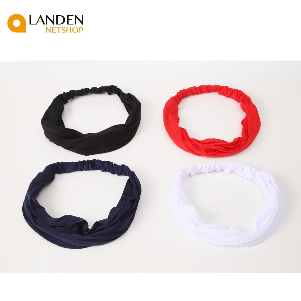 Headbands Stretchy Bands HAIR Soft Solid For Woman Headband Accessories Sports LANDEN NETSHOP