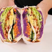 紫薯三明治的做法,小兔奔跑轻食简餐教程的做法图解12