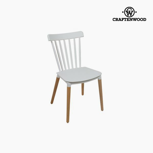 Chair Beech Wood White (52 X 46 X 84 Cm) By Craftenwood