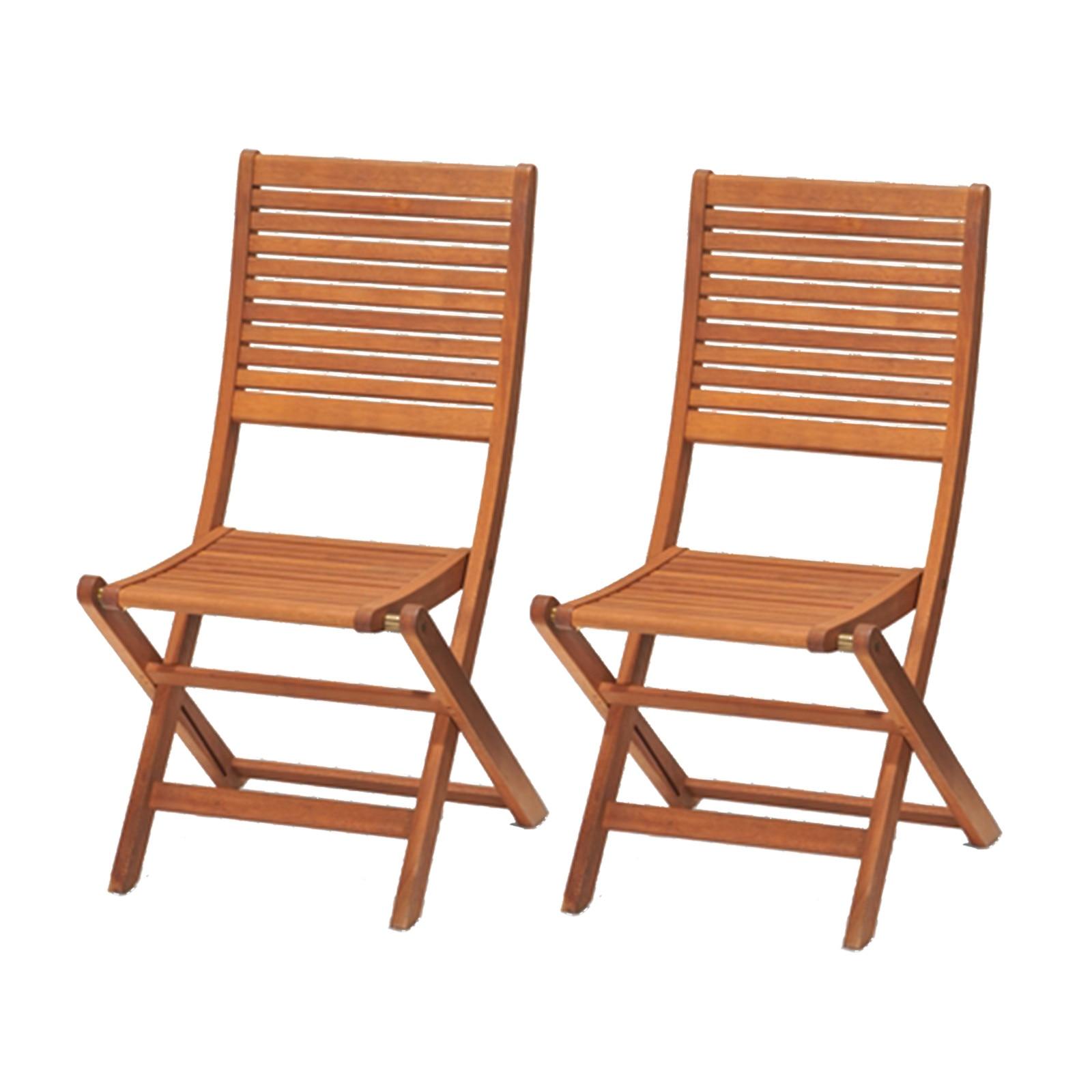 Kingsbury-2 Folding Chairs Wood Eucalyptus 57.86 Cm X 49 Cm.60 X 93.55-4999100100280L